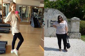 Арина Горустович - преди и след отслабването