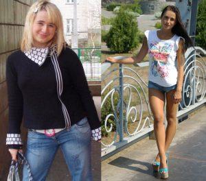 Мила Гриценко - преди и след отслабването