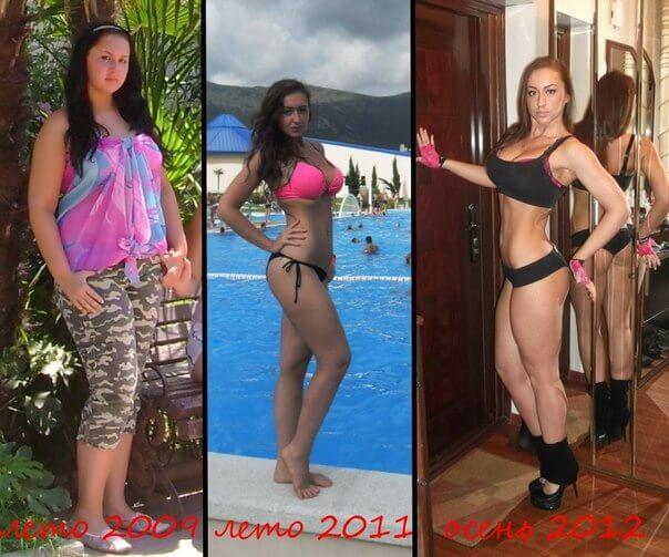 Уляна Грос - преди и след отслабването